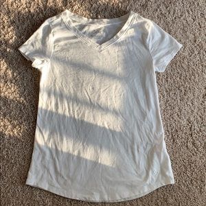 Justice 12 white fitted t shirt